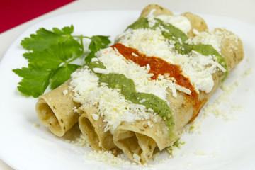 Tacos Dorados Mexican Dish