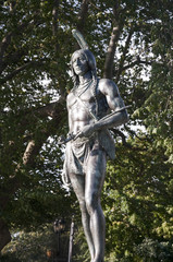 Statue to Massasoit in Plymouth Massachusetts USA