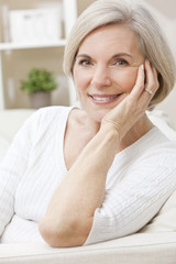 Portrait of A Happy Smiling Attractive Senior Woman