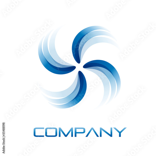Logo Air conditioning, ventilator # Vector