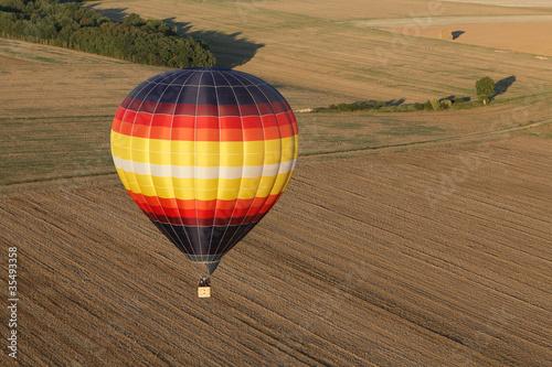 Foto op Canvas Ballon Montgolfière