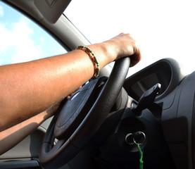 mani sul volante