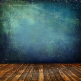 Grunge interior blu