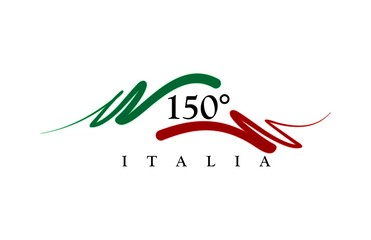 Background anniversary of 150 years Italy
