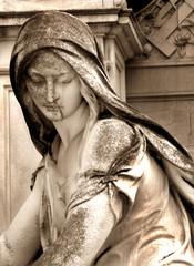 Detail einer Statue, Zentralfriedhof, Wien