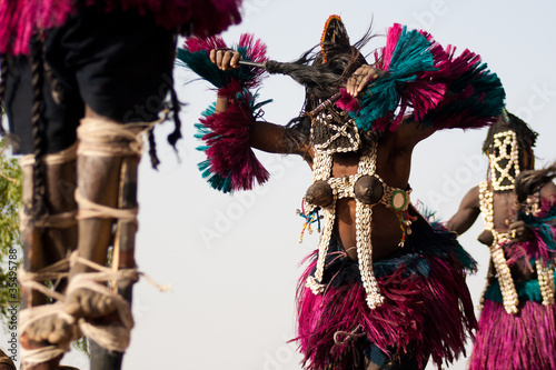 Female mask and the Dogon dance, Mali.
