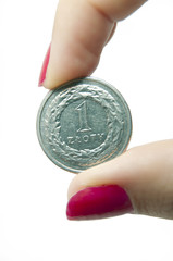One zloty coin