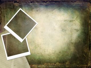 Vecchie polaroid su texture retro