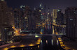Night city. Panoramic view.