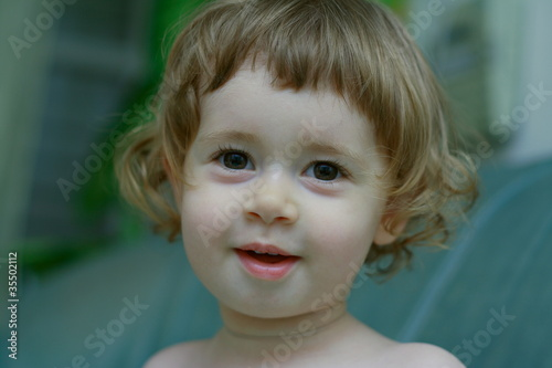 Portrait of a charming little boy