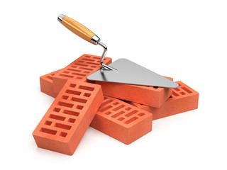 Trowel and bricks