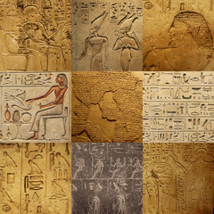 set of ancient Egyptian writing