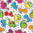 Seamless pattern - Cute dinosaurs
