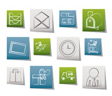 Post, correspondence and Office Icons poster