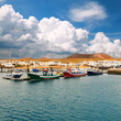 Fishermen boats in La Graciosa