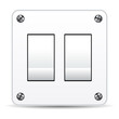 Dual light switch isolated over white background