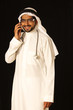 Arab male doctor on mobile phone