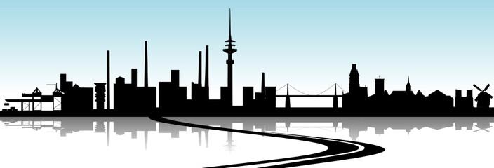 Essen-Duisburg Skyline A40