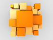3d orange abstract background