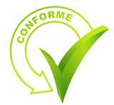 conforme sur symbole validé vert poster