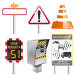 lot illustration, panneaux signalisation/radar