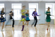Group of Young People Training at a Dance Class