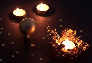 Christmas ball and candles