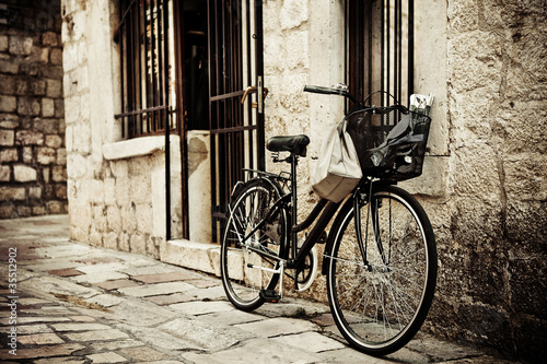 Fototapete Attraktiv - Hintergrund - Fahrrad