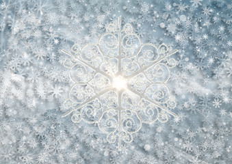 Background from snowflakes for a Christmas theme