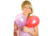 Attractive young woman with balloons
