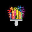 Logo house painting # Vector
