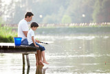 Fototapety Family fishing