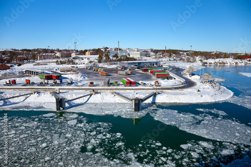 Foto op Plexiglas Antarctica 2 Port covered with ice