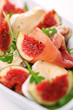 Fresh salad with figs, prosciutto and goat cheese
