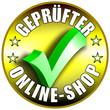 Geprüfter Online Shop Button/Plakette - goldene Version