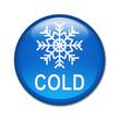 Boton brillante simbolo y texto COLD