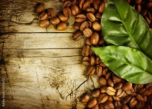 Kaffee Hintergrund. Mit Kopierbereich für Text