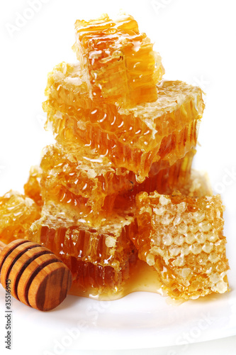 Honeycomb isolated on white