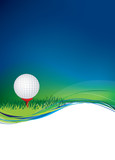 golf ball on background with copy area space