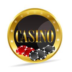 icône casino en or