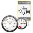 vecteur, contrôle radar et compteur de vitesse