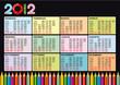 Calendario 2012 col nero