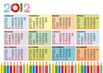calendario 2012 colori