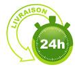 livraison 24h sur symbole validé vert