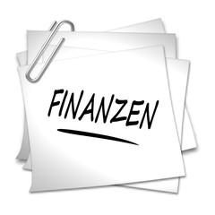 haftnotiz finanzen