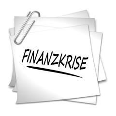 haftnotiz finanzkrise