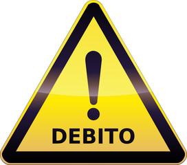 Segnale di avvertimento debito