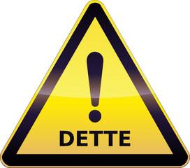 Panneau de danger Dette