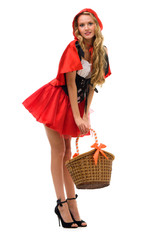 Little Red Riding Hood shape. Halloween and Christmas theme.