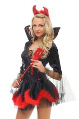 Devil shape. Halloween and Christmas fancy theme